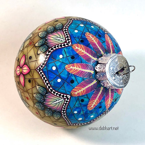 Heirloom Christmas Ornament - Turquoise/Amber