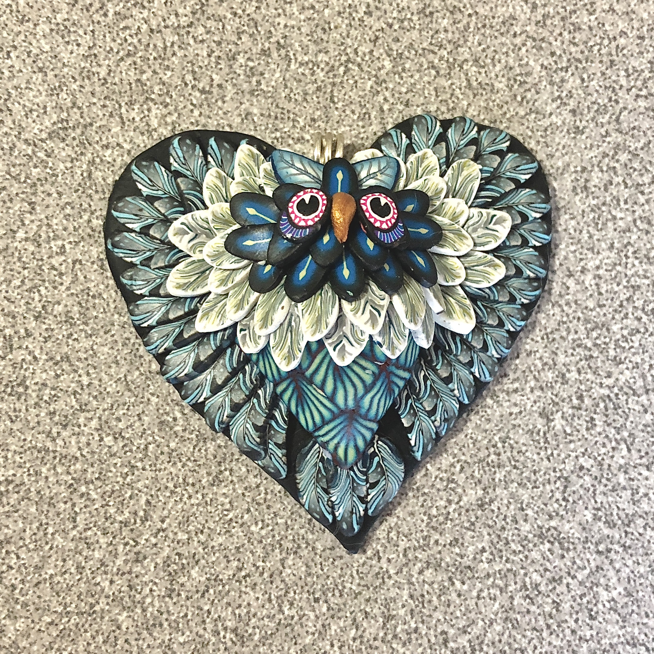 Shades of Blue Heart Owl