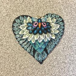Shades of Blue Heart Owl