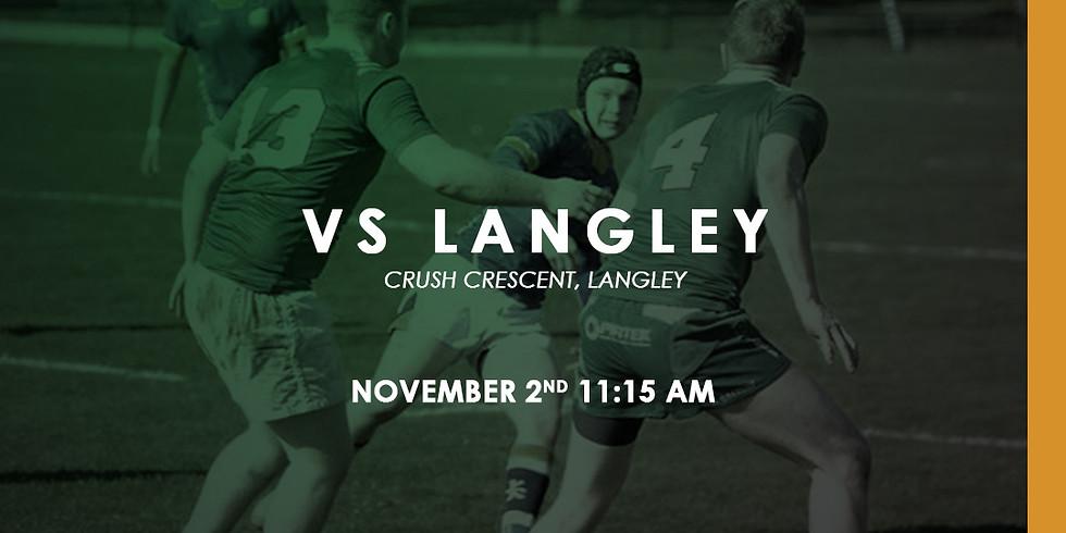 Kats vs Langley Rugby Club