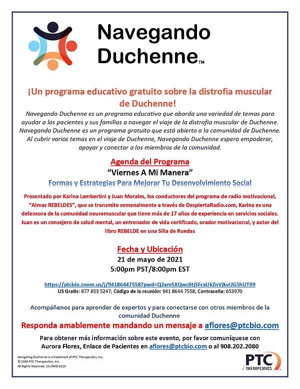 May 21 Spanish Navigating Duchenne Save