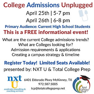 Copy of College Applications Unplugged 2