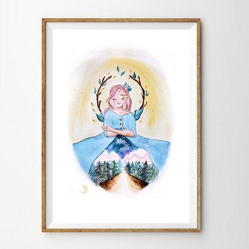 Peinture « Monde intérieur » Aquarelle
