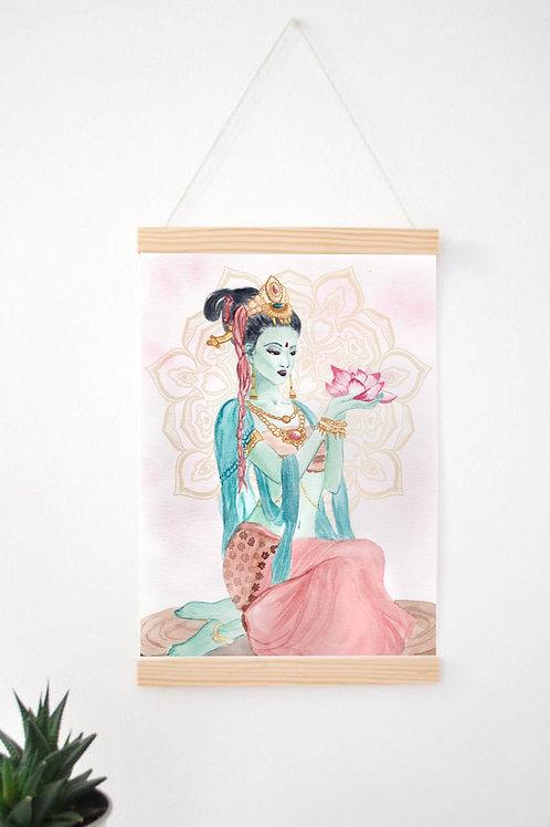Peinture « Déesse Kuan Yin » Aquarelle