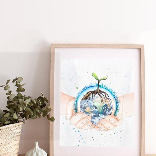 Peinture « Save Planet » • Soin à la Terre