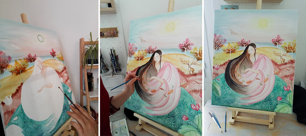 toile personnalisée aquarelle