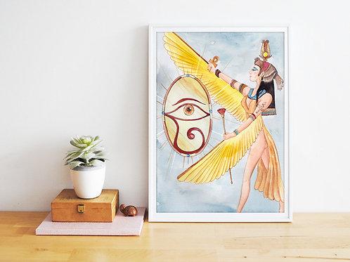 Peinture « Isis » Aquarelle