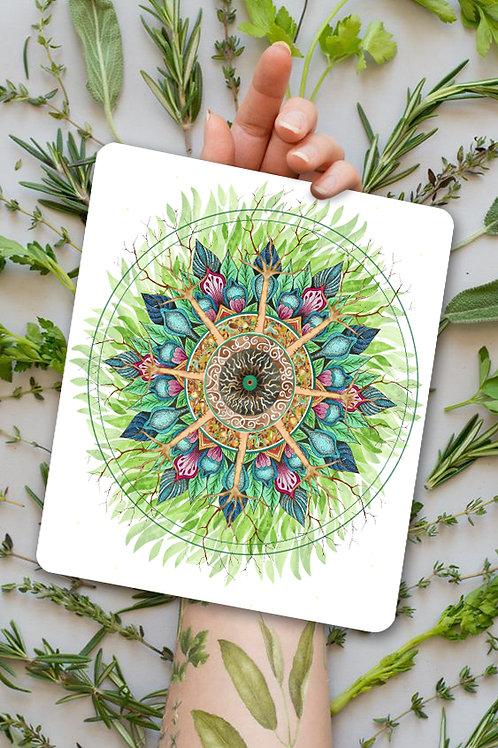 """Peinture hypnotique """"Appel de la nature"""""""