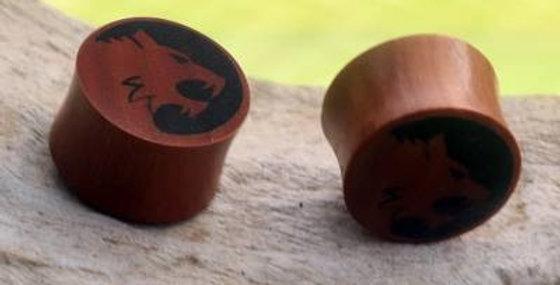 سدادات خشبية مصنوعة يدويًا من خشب النمر