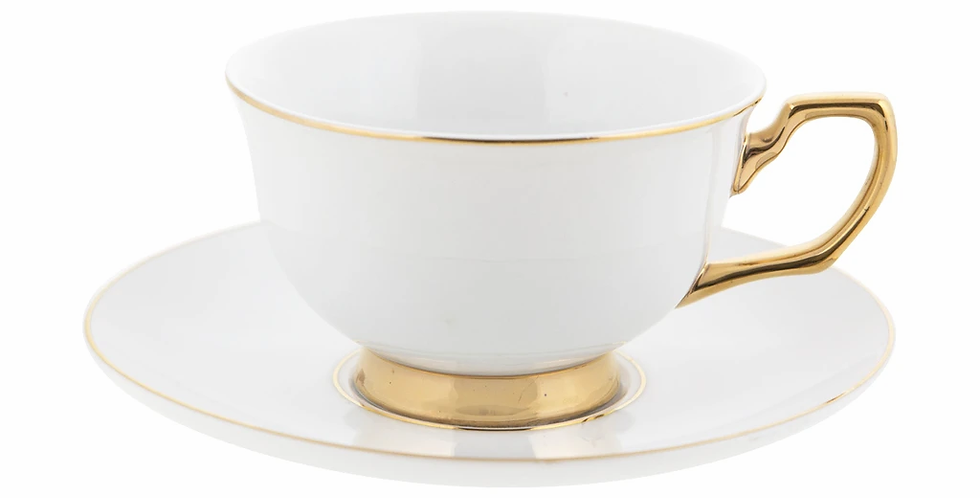 Teacup & Saucer - Ivory