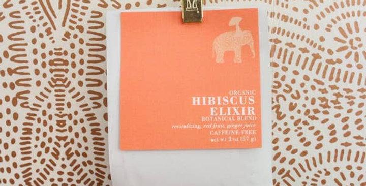 Té botánico de hojas sueltas elixir de hibisco, bolsa de 2 oz