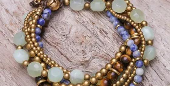 Pulsera de cuentas de piedras preciosas