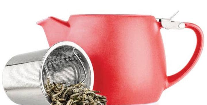 Pluto Red Porcelain Teapot 18.2oz