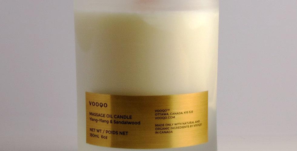 Vooqo Organic Massage Oil Candle - Ylang-Ylang & Sandalwood