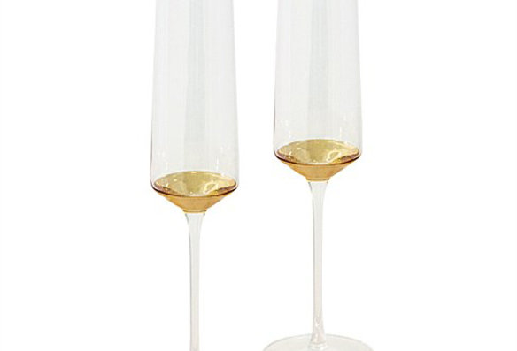 Champagne Flute Estelle Gold Set of 2