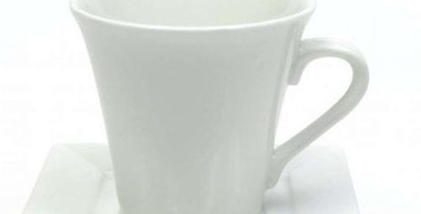White Basics Mondo Square Cup and Saucer
