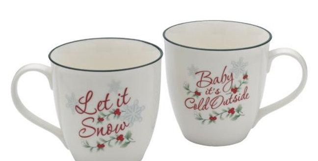 Set de 2 tazas de bebé Hace frío afuera y déjalo nevar