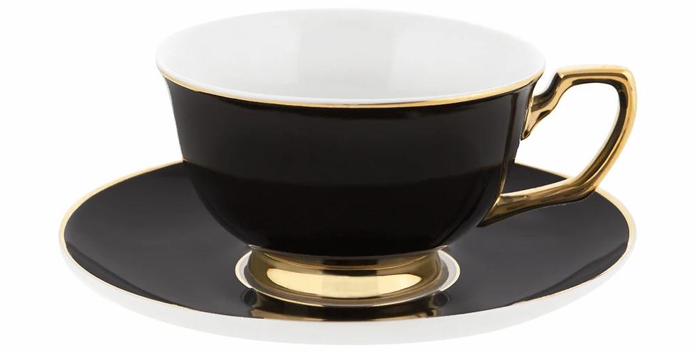 Gold Trim Cup & Saucer Set