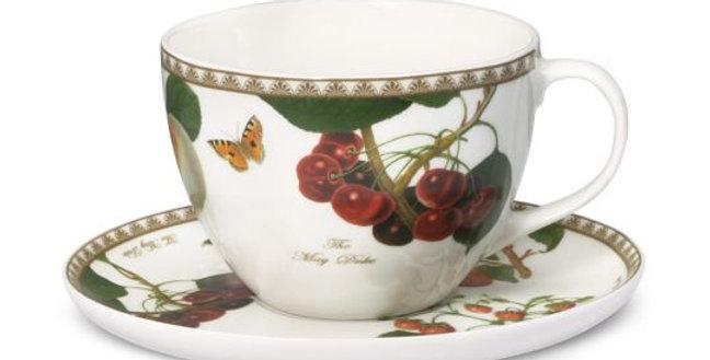 Juego de taza y plato de té Les Fruits du Jardin