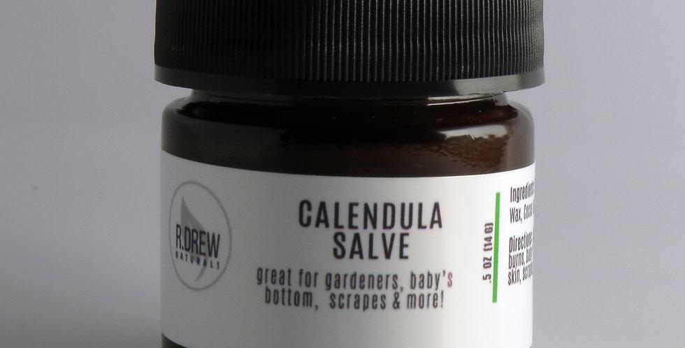 R. Drew Naturals -Calendula Salve 0.85 oz. -Mini
