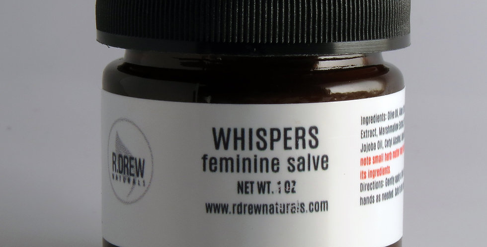 R. Drew Naturals - Whispers feminine Salve 0.85 oz. -Mini
