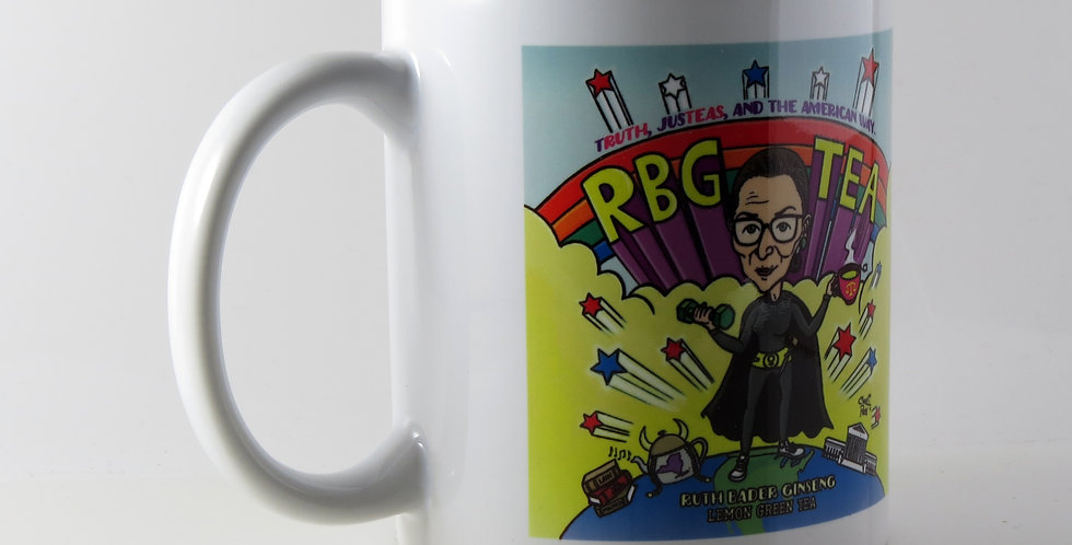 11oz Artistic Porcelain Mugs  RBG (Ruth Bader Ginsburg)