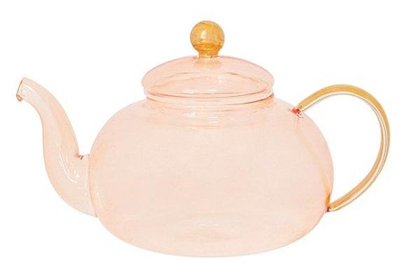 Rose Glass Teapot