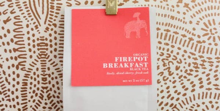 Firepot Breakfast شاي أوراق أسود فضفاض ، 2 أوقية كيس