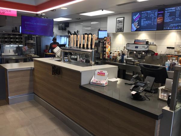 New nexgen design – interior finish-out and exterior modification for franchise food service establishment. Located on San Pedro in San Antonio, Texas
