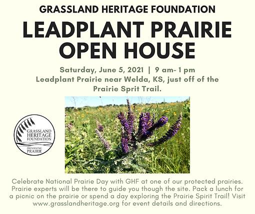 Leadplant Prairie Open House 2021 FB Pos