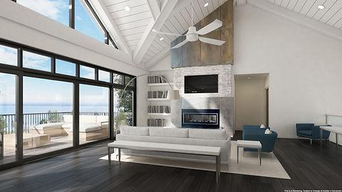 Great Room Rendering - Peninsula Shores.
