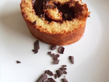 Recette de mai : Roulé ganache chocolat au lait-Notzino