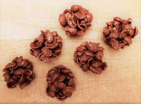 Recette d'avril : Roses des sables chocolat au lait/Notzino