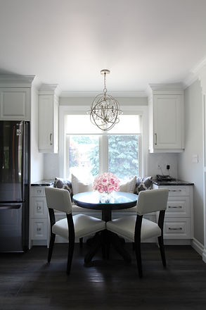 Elegant Transitional White Kitchen Brush