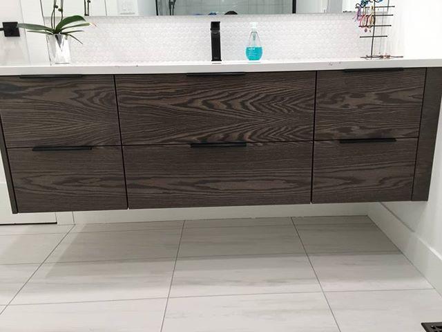 Lovely floating bathroom vanity that was