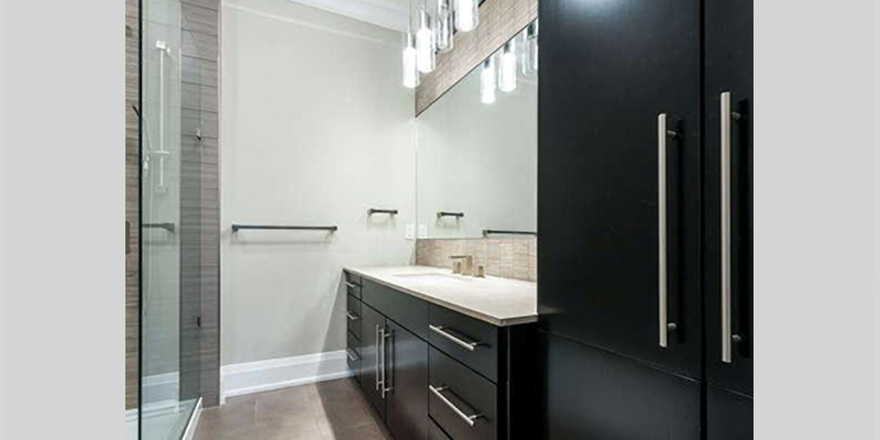 Black bathroom cabinets