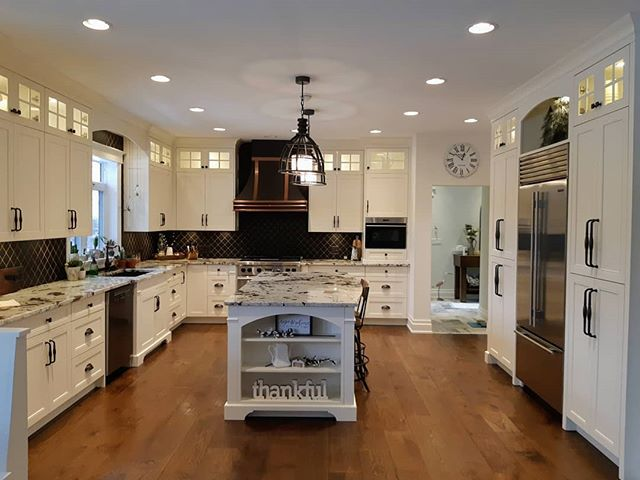 Beautiful spacious kitchen that we did a