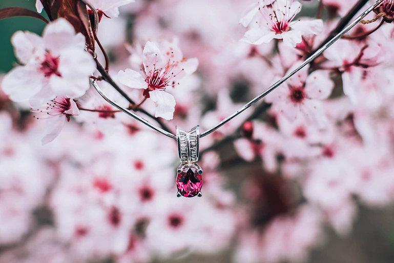 Pink Pendant Spring Flowers