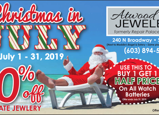 Christmas In July Sale 50% off--Atwood Jewelers Salem NH....!!
