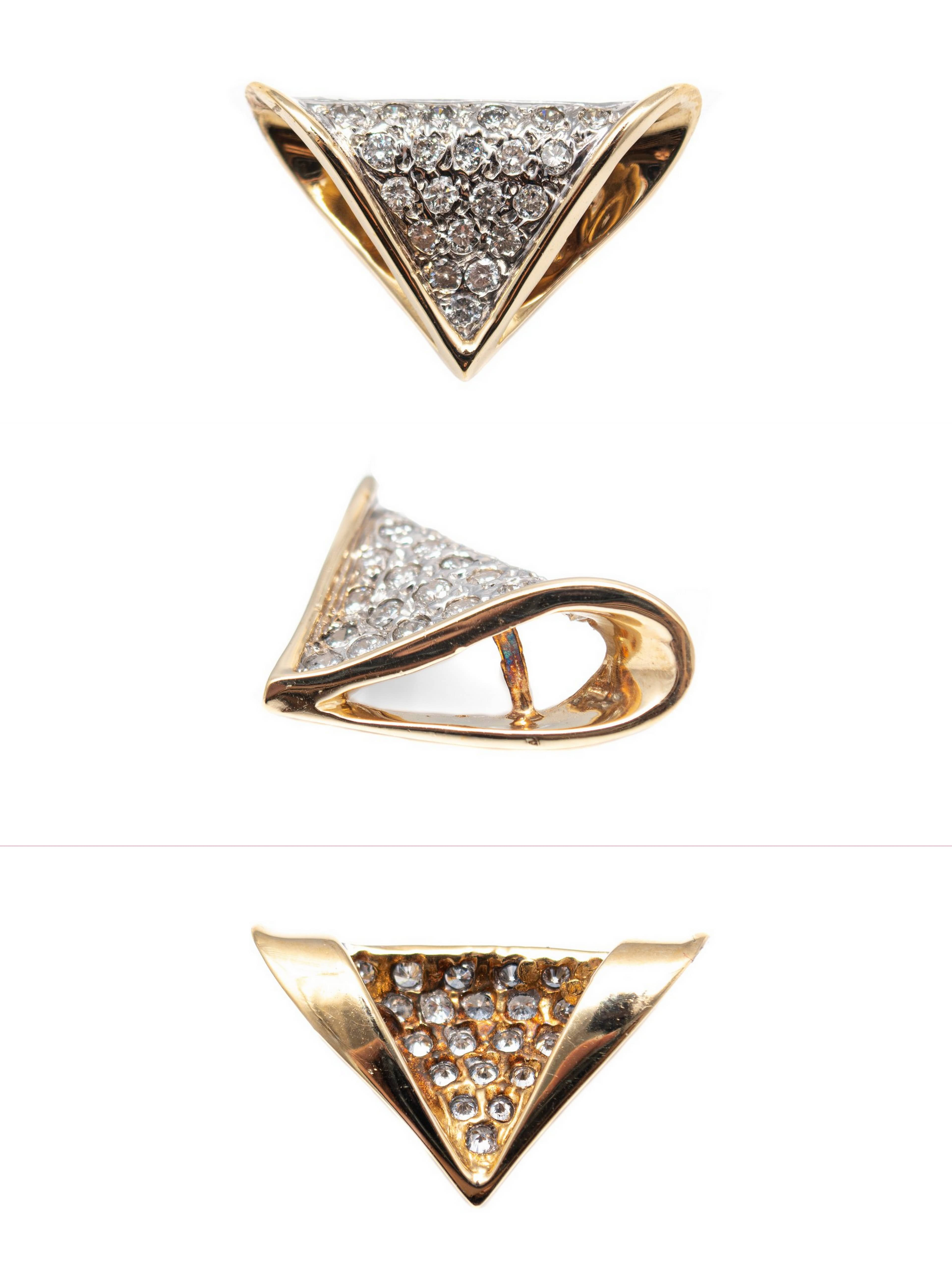 Triangle diamond Pendant