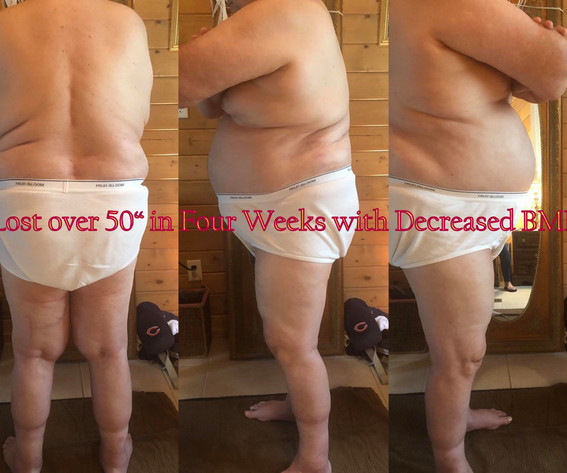 Lost 50 inches in four weeks