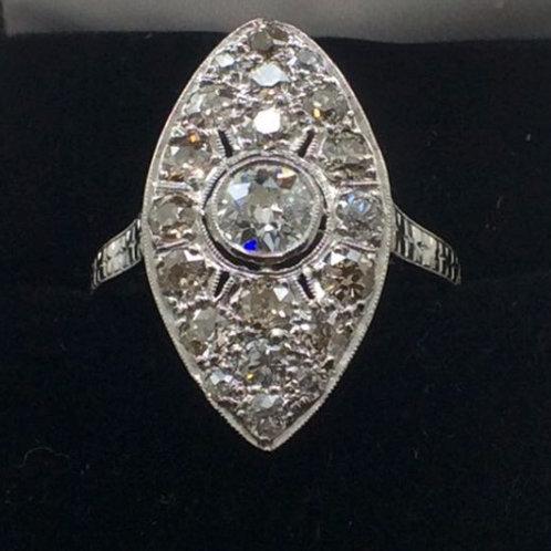 Platinum Diamond .50CT Ring
