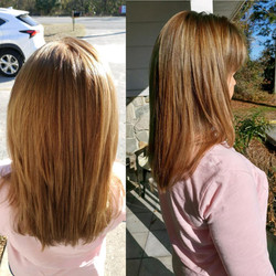 straight sunkissed hair