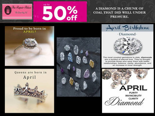 Diamond, the Birthstone for April…. Springs, Flowers, Beauty, Shine!!