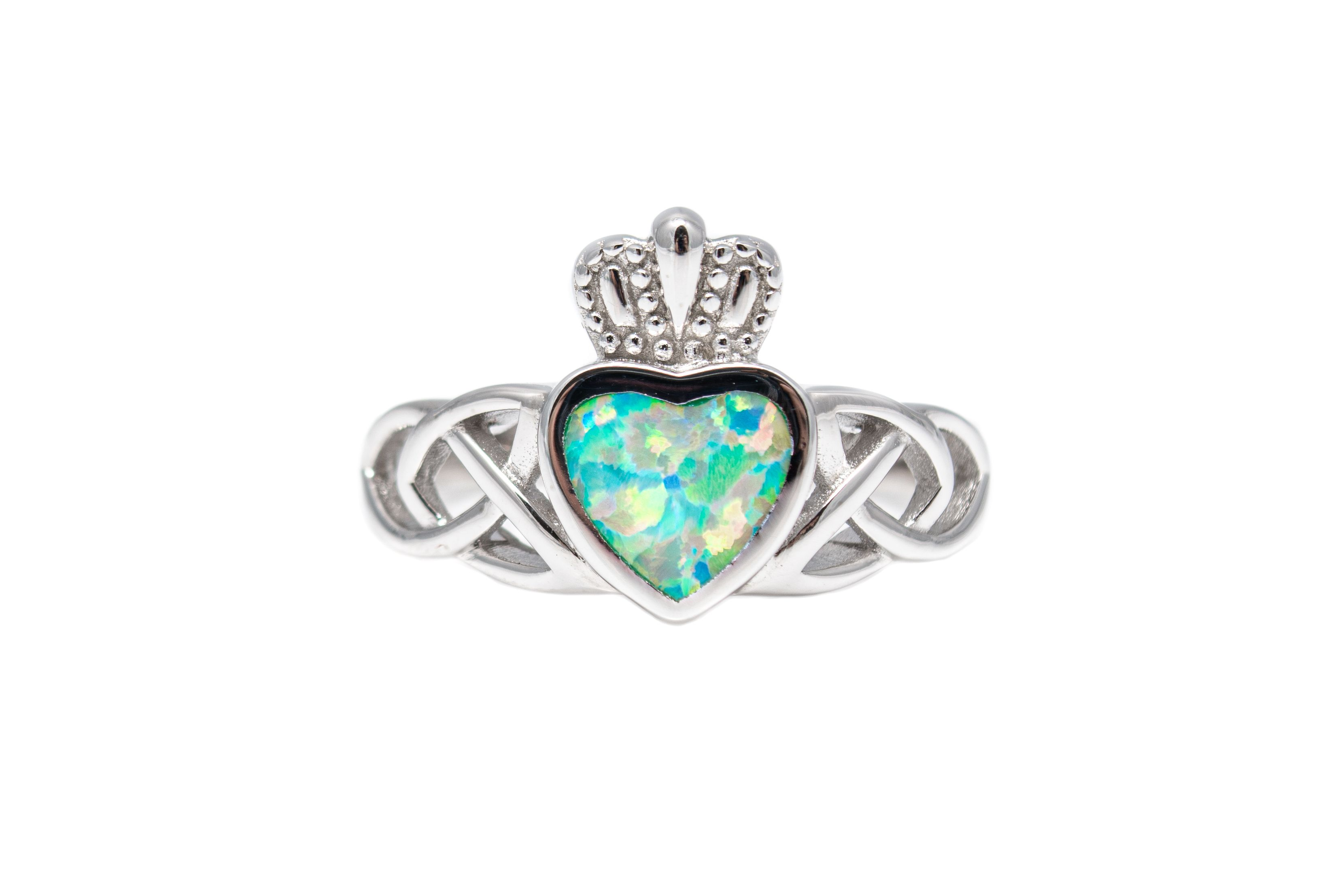 March Birthstone Aquamarine and Claddagh