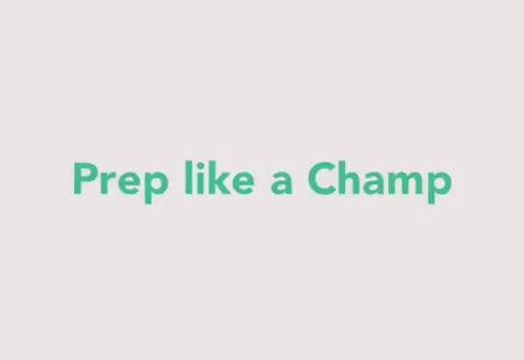 Pre like a champ