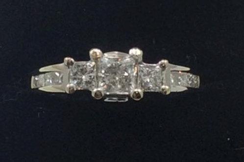 14k White Gold 1.5CT 2.8dwt Diamond Ring