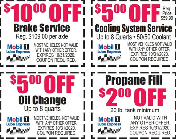 October Coupons