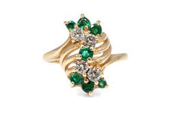 atwood emerald diamond ring