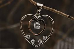 atwood jewelers double heart  pendant